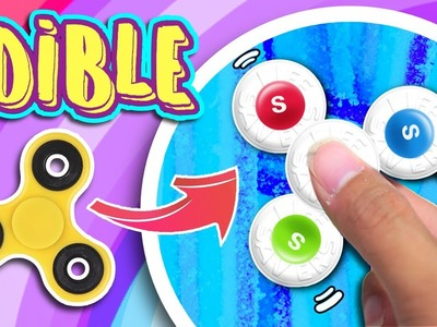 DIY EDIBLE FIDGET SPINNER! Make Fidget Spinners Out Of Candies with NO BEARINGS