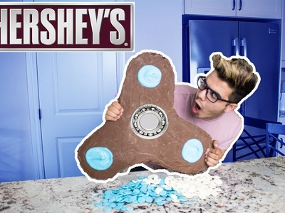 DIY GIANT CHOCOLATE FIDGET SPINNER!! (I'M BACK)