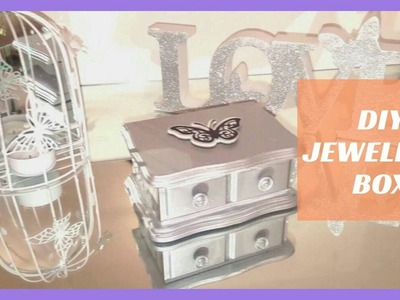 DIY How to make | Metalic Silver Jewellery Box | Upcylcle | Craft 2017