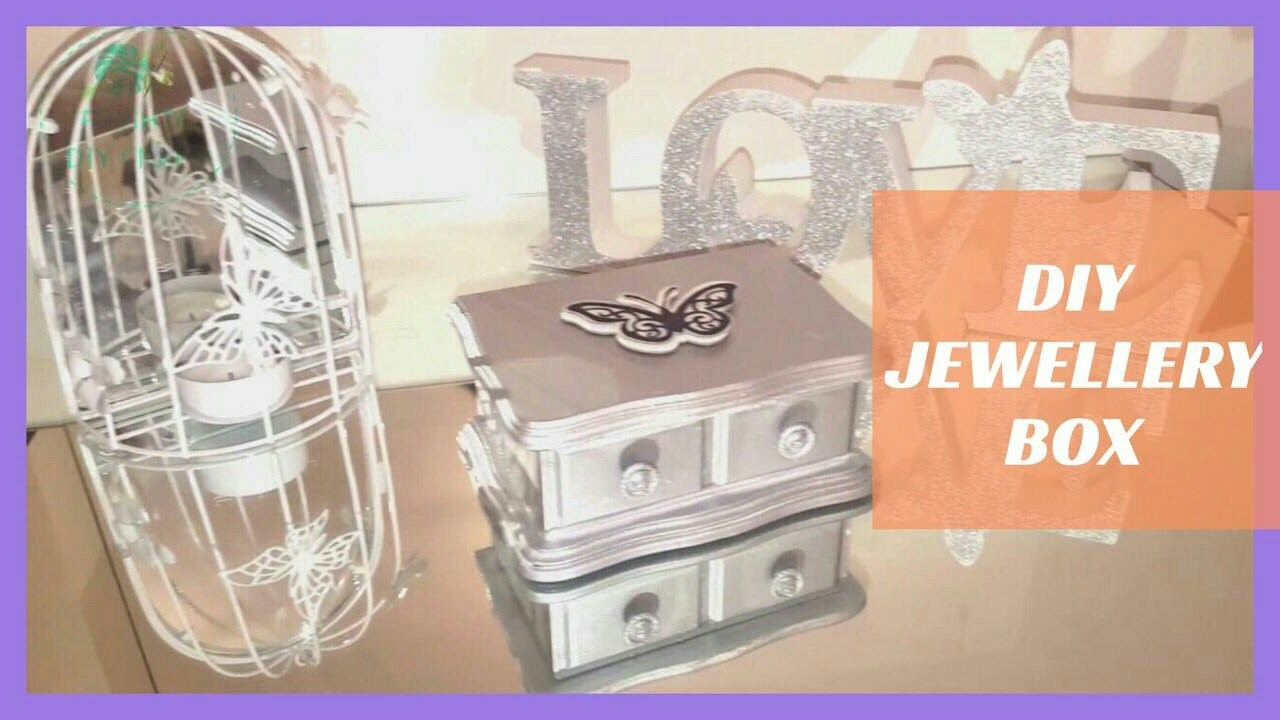 DIY How to make   Metalic Silver Jewellery Box   Upcylcle   Craft 2017