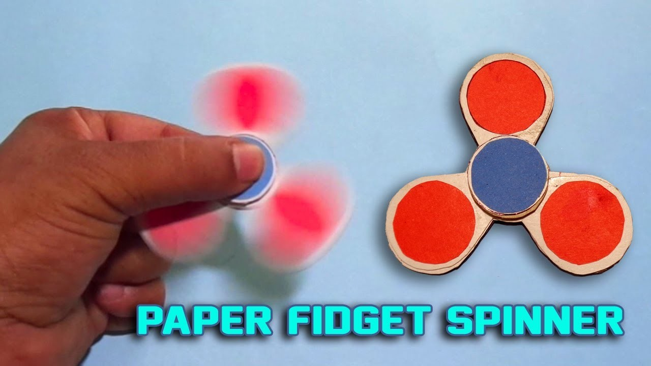 origami fidget spinner instructions