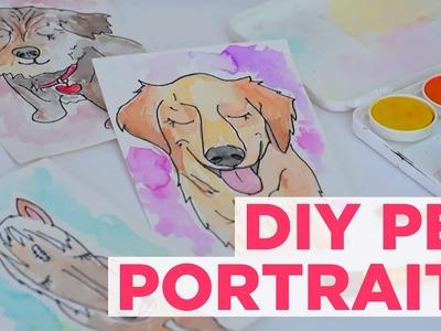 DIY Pet Watercolor Paintings - HGTV