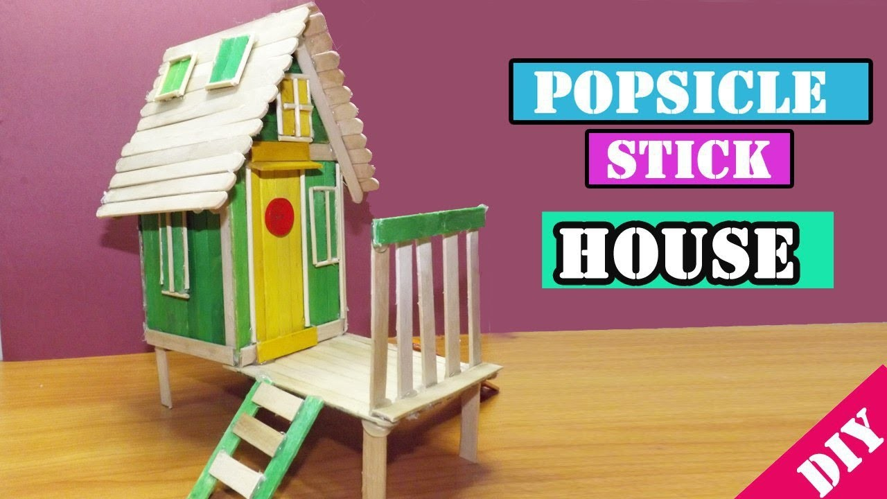 DIY Popsicle Stick House #16, Easy Crafts for kids