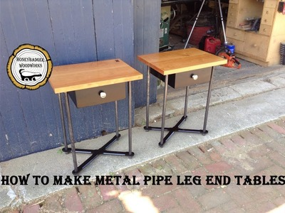 DIY Side Table w.Metal Legs.How To Part One