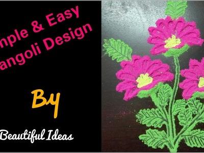 DIY.Simple & Easy Rangoli Design Making at Home. Easy Rangoli Design by Beautiful Ideas.