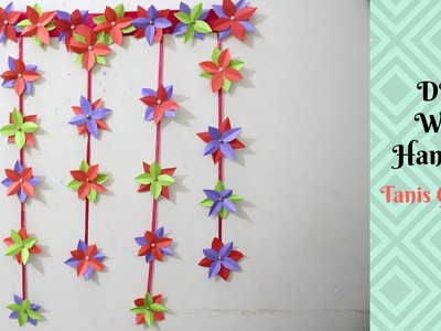 DIY Wall Hanging | Home decoration idea | How to Make  DIY Room Decor Using Paper | Tanis Creativity