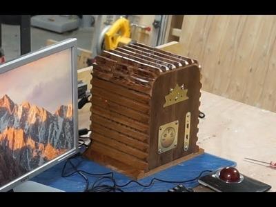 "DIY Wooden PC Case w.""Cooling"" Fins"