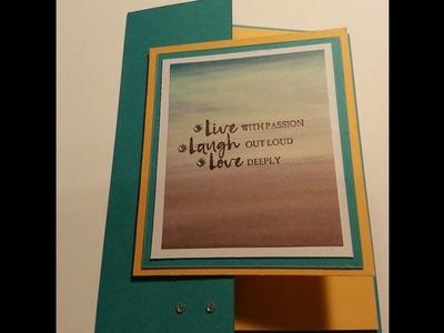 Double fun fold card using Beautiful you stampin up