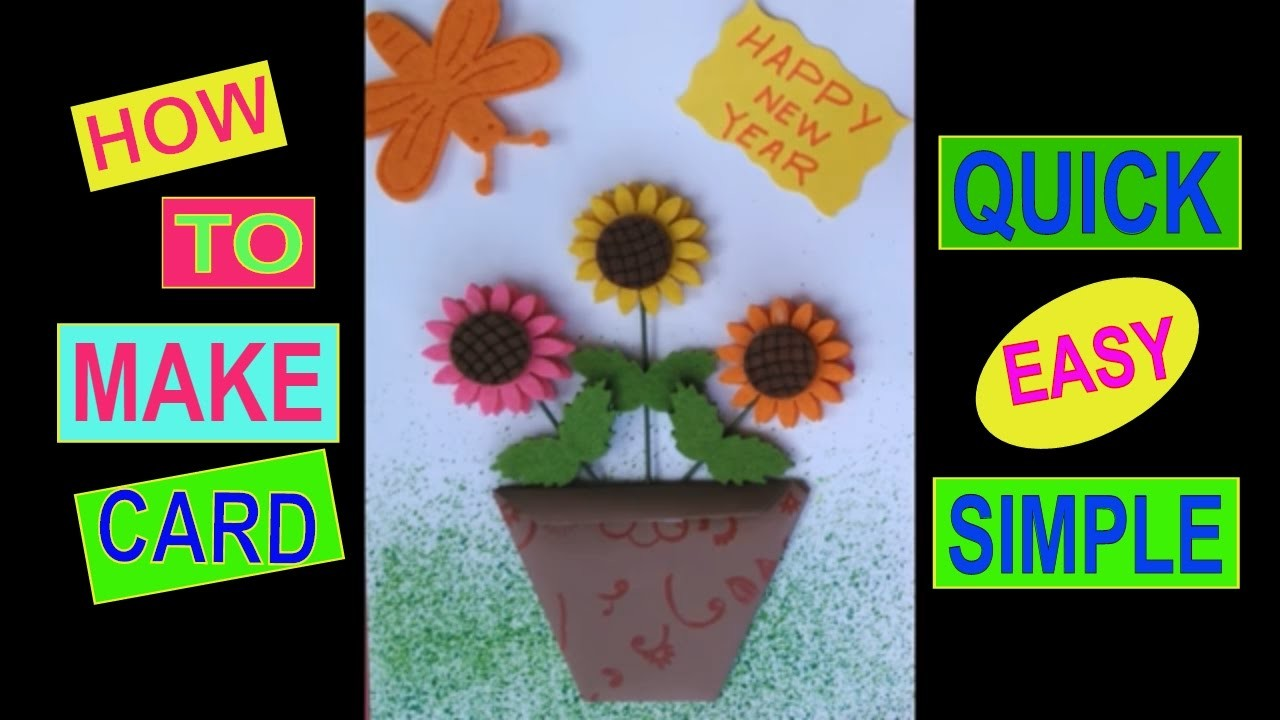 easy and quick new year card card making competition in school easy card making for kids