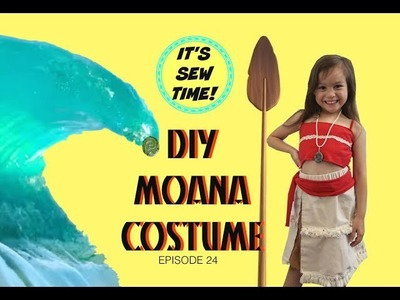 EASY DIY MOANA COSTUME, EASY SEWING, BEGINNER SEWING