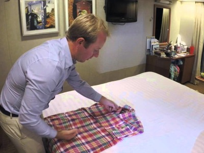 Easy Way to fold a Dress Shirt on the Go