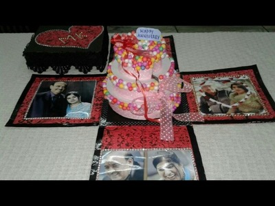 Explosion Box With Surprise Cake For Anniversary Gift | CraftLas