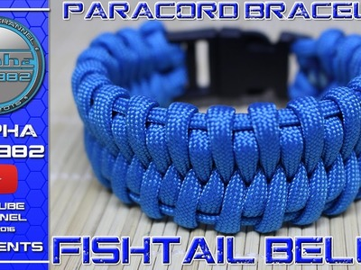 Fishtail Belly Paracord Buckle Bracelet How To Make - (M Agnello)