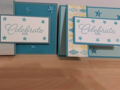 Flap fold card using birthday blast SU