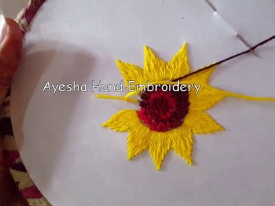 Flower stitch french knots hand embroidery