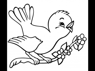 Flying birds drawing for kids || Easy Drawing || Bharti's Creative art and craft ||