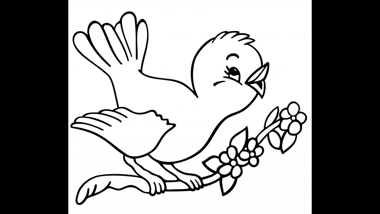 Flying Birds Drawing For Kids Easy Drawing Bhartis Creative