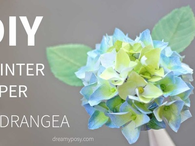 [FREE template and tutorial]:Paper Hydrangea flower from printer paper, very  EASY