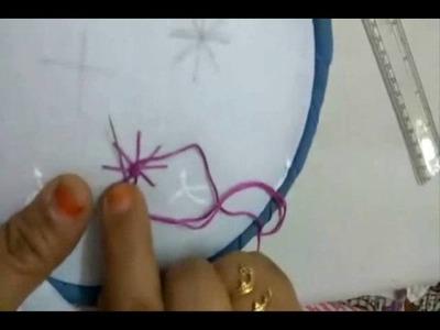 Hand Embroidery-Spider Stitch