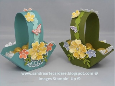 HANDMADE EASTER GIFT BASKET - SandraR UK Stampin' Up! Demonstrator Independent