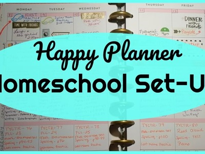 How I Lesson Plan with My Happy Planner || Homeschool Set-Up
