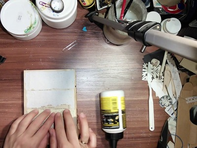 How I make my texture journals out of a gutted books