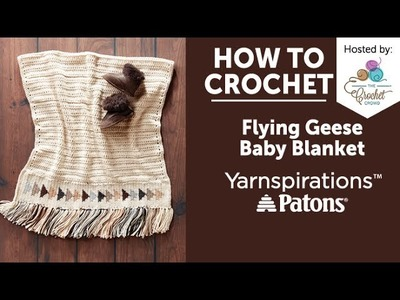 How to Crochet a Baby Blanket: Flying Geese Blanket