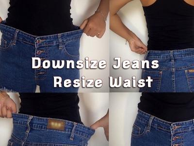 How To Downsize Jeans Resize Waist DIY -TGK.024