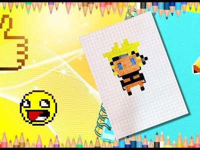 How to draw Naruto? Pixel Naruto.