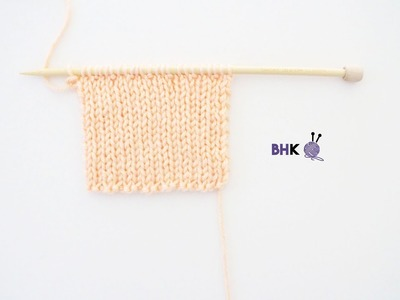 How to Knit the 2x1 Rib Stitch for Complete Beginners Left Handed