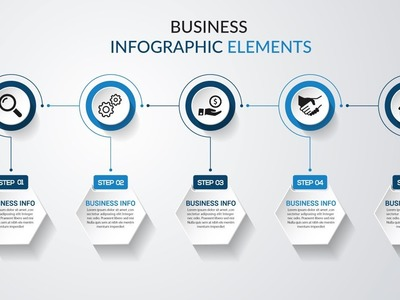 How To Make 3D Graphic Design business Infographic template    Illustrator CC Tutorial