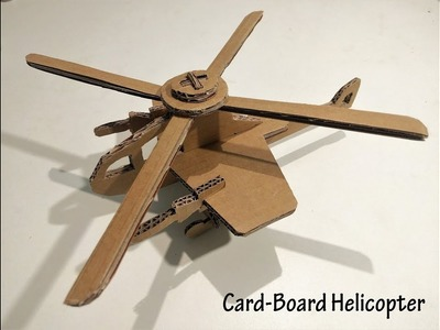 How to Make a Cardboard Helicopter | Cardboard Crafts