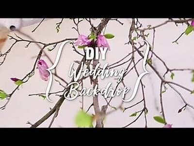 How to Make a DIY Wedding Backdrop - HGTV