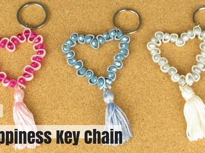 How to Make a Happiness Key Chain - Easy DIY Tutorial - Made with Soutache Braid Cord