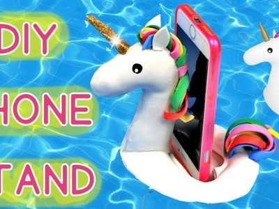 How to make a Unicorn float Phone Cell Stand . DIY Phone Stand (quick version) . Crazy about DIY