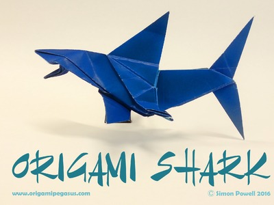 how to make a origami shark easy