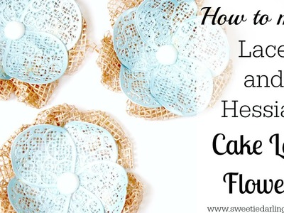 How to make Cake Lace Flowers