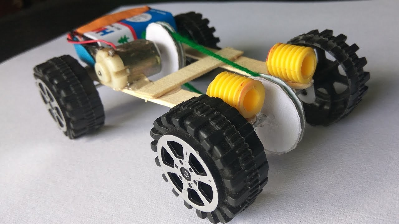 How To Make Electric Car Using DC Motor