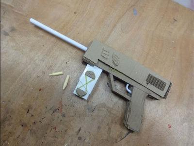 How To Make gun That Shoots Bullets - (Cardboard Gun)
