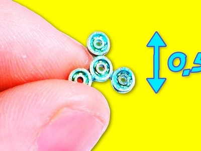How To Make Miniature Fidget Spinner Without Bearings - DIY SMALLEST FIDGET SPINNERS (Faster)