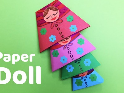 How to make Paper Doll | Easy nested doll for kids