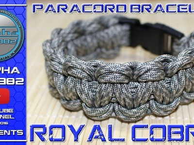 How to make Paracord Bracelet ROYAL COBRA