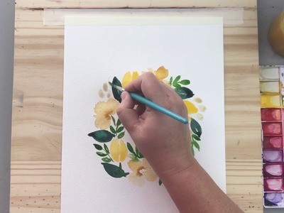 How to paint a wreath - watercolor tutorial