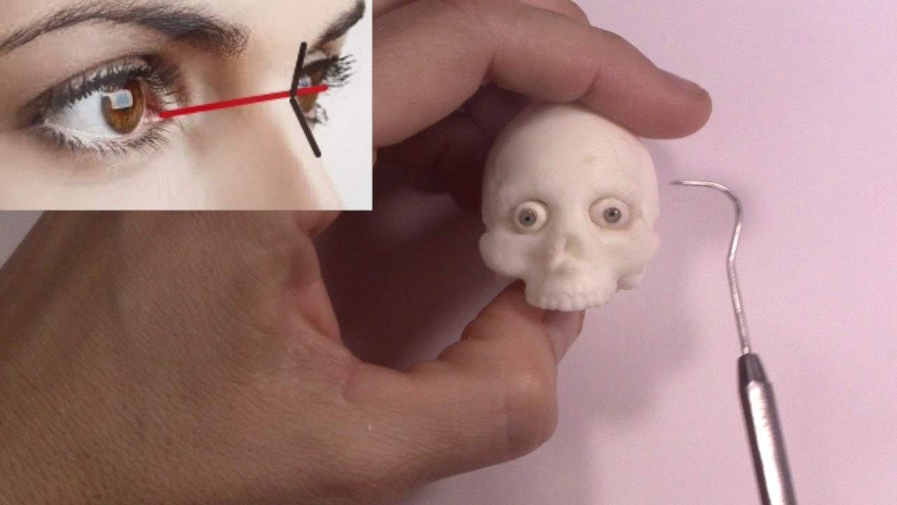 How to Sculpt a Face- part 01- Placing the Eyes and Jaw