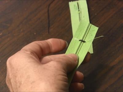 How to Shorten a Zipper by Hand