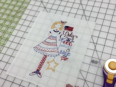 How to Trim Your Calendar Girl Stitchery Blocks for Use in a Quilt