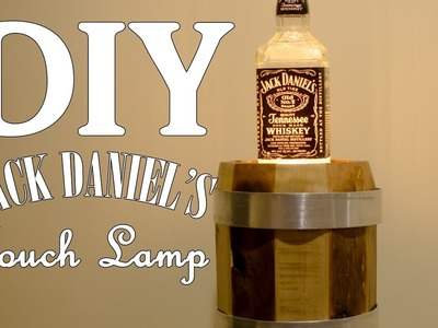 Jack Daniel's Touch Lamp with Whiskey Barrel from #Pallets w. Edison Bulb