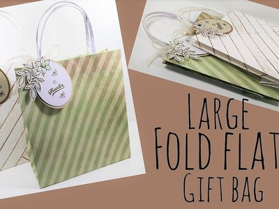 Large Fold Flat Gift Bag | Video Tutorial