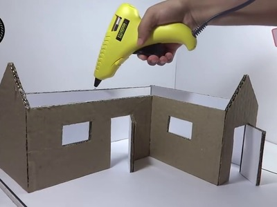 Making A small Cardboard House with dimensions 3D DIY.(be creative)