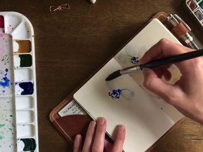 Paint With Me | Watercolor flowers tutorial